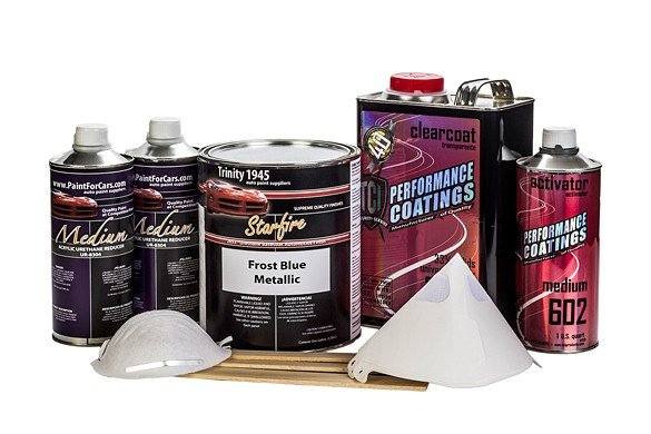Frost Blue Metallic Urethane Basecoat Clear Coat Auto Paint Kit TCI