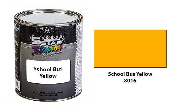 5 Star Xtreme Urethane Auto Paint Kit School Bus Yellow 8016