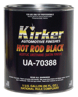 Kirker Hot Rod Black Acrylic Urethane Paint Kit Paintforcars Com