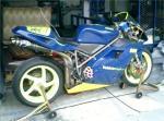 Blue auto paint on Ducati 996 race bike