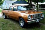 Bronze auto paint on vintage pickup truck.