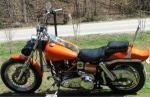 Harley Davidson motorcycle repainted.