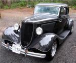 Ford Streetrod black paint restoration